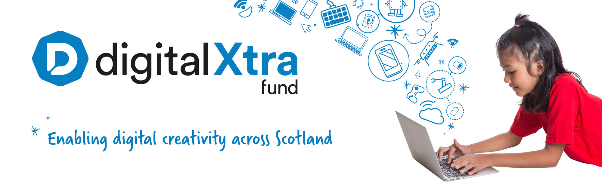 Digital Xtra Fund Web Banner - White