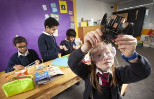 Pupils from Anderston Primary School take part in 'Tech Heroes'