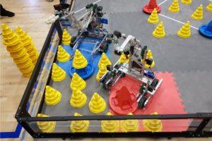 VEX Robots in the corner